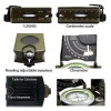 Top Quality EK4076 Military Compass Sighting Compass Metal Survival Gear Hiking Satellite Army Green W2237G